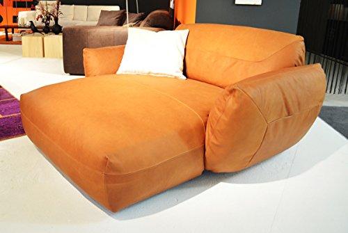 KAWOLA Longchair DAVITO Megasessel Leder Pallino Cognac 174x180x88cm (B/T/H)