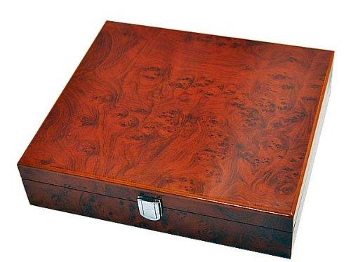 Orig. Meyer & Söhne Uhrenbox Uhrenkoffer für 10 Uhren 8-fach lackiert