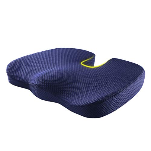 Absir Breathable Memory Foam U Shape Seat Cushion for Office Home Chair Navy 45 * 36 * 5CM