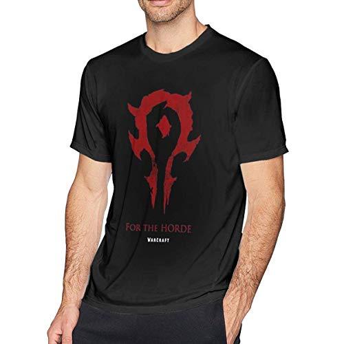 Camiseta de Cuello Redondo para Hombre para la Camiseta Casual de Manga Corta de algodón Warde-The-Horde 3XL