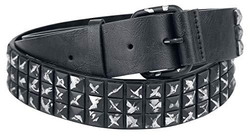 Doomsday Studded Belt Unisex Gürtel schwarz 100 cm 100% Polyurethan Basics, Gothic, Punk, Rockwear