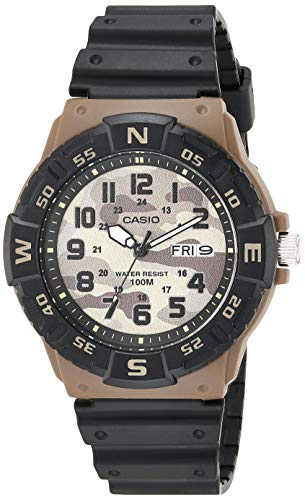 Casio Men's Analog Quartz Resin Strap, Black, 24.77 Casual Watch (Model: MRW-220HCM-5BVCF