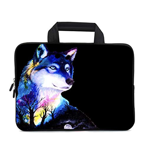 XMBFZ 11.6 12 12.1 Inch Laptop Carrying Bag Protective Chromebook Case Pouch Netbook Notebook Ultrabook Bag Tablet Sleeve Cover Travel Briefcase with Handle for Men Women (Wolf)