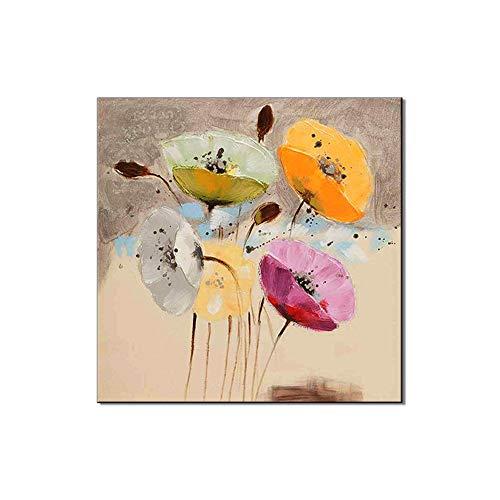 Enweonga Pflanze Abstrakte Dekoration wandbild,weiße Blumen Moderne acrylgemälde auf leinwand,Für Wohnzimmer Schlafzimmer Büro,28