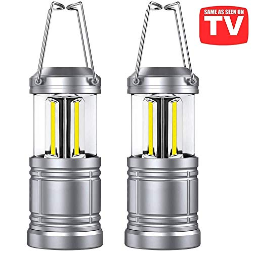 2 Pack LED Camping Lantern - Magnetic Base, 500 Lumens,Collapsible,As Seen on TV LED Lanterns for Hurricane, Emergency,Storms, Outage