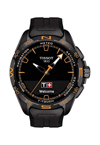 Tissot orologio T-Touch Connect Solar 47,5mm Nero quarzo Titanio finitura PVD Nero T121.420.47.051.04