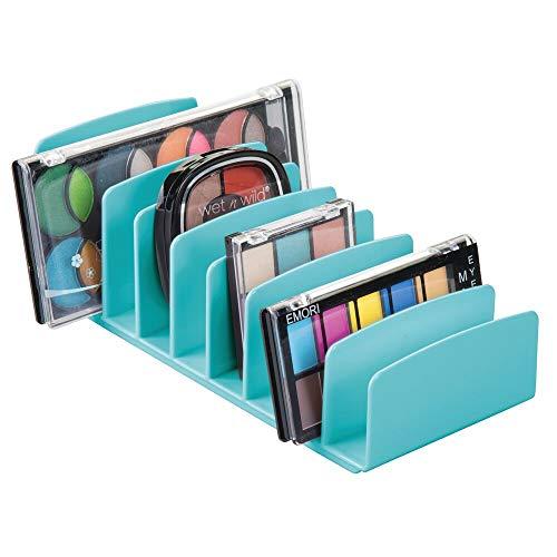 mDesign Kosmetik Organizer aus BPA-freiem Kunststoff – Schminkaufbewahrung mit 9 Steckplätzen –...