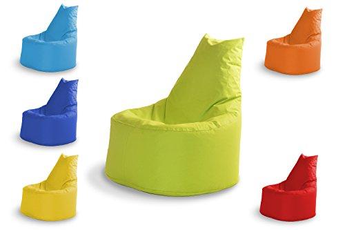 Sitzsäck Outdoor & Indoor Sitzsack Gaming Sessel für Kinder und Erwachsene Sitzsäcke Bean Bag Chair Geeignet Fertig Befüllt mit Styropor Füllung Ein Lounge Sitzkissen 100% Wasserfest in 6 Farben Grün