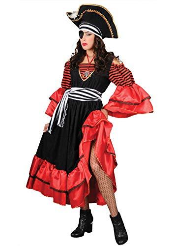 Unbekannt Stamco, Fluch der Karibik Elizabeth rot, Piraten Kostüm für Damen