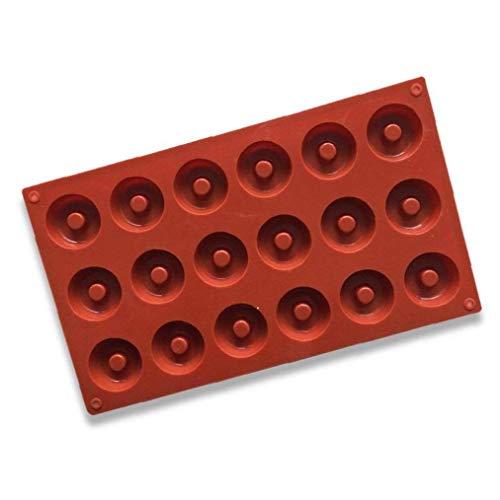Yoyakie Ronda De Rosquilla del Molde del Molde De Silicona para De Chocolate para Hornear Molde 18 Cavidad