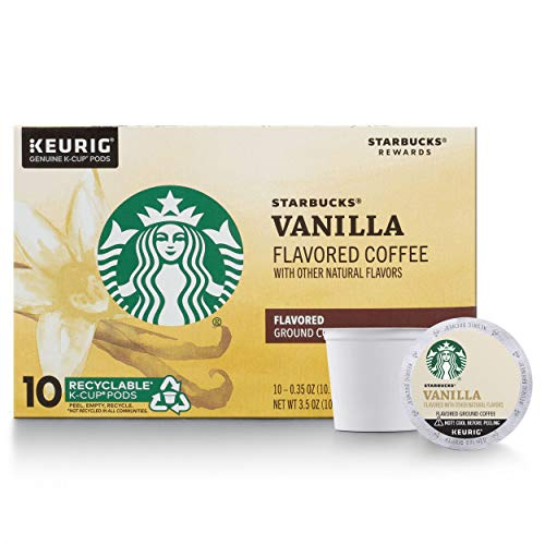 Starbucks Flavored K-Cup Coffee Pods — Vanilla for Keurig Brewers — 1 box (10 pods)