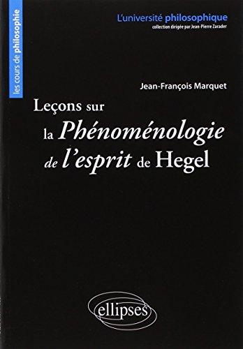 Leçons sur la Phénoménologie de l'Esprit de Hegel