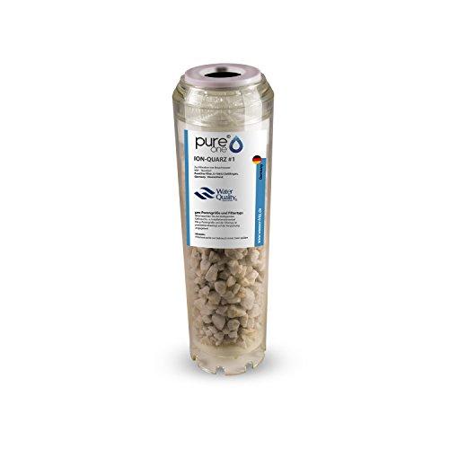 PureOne ION Quarz #1 Anti-Eisen. Ergänzend zu Manganfilter. Quarzsand zur Wasser Enteisenung u. Filtration. Die Wasserfilter-Kartusche f. Hauswasserwerk Wasserpumpen. Für 10