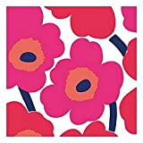 Ideal Home Range 20-Count 3-Ply Paper Lunch Napkins, Red Unikko