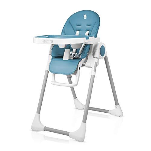 Hochstuhl Baby - 7 Höhen, Verstellbare Rückenlehne Kind 5 Positionen - Verstellbar und Klappbar