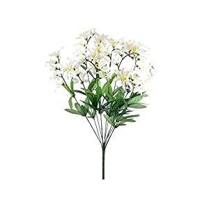 Freesia Bush Artificial Flowers 22″-Floral tributes-Home Decor-Wedding Decor-Artificial Plants & Flowers-Faux Flowers-Artificial Plant-Bridal Bouquets for Wedding-Artificial Greenery