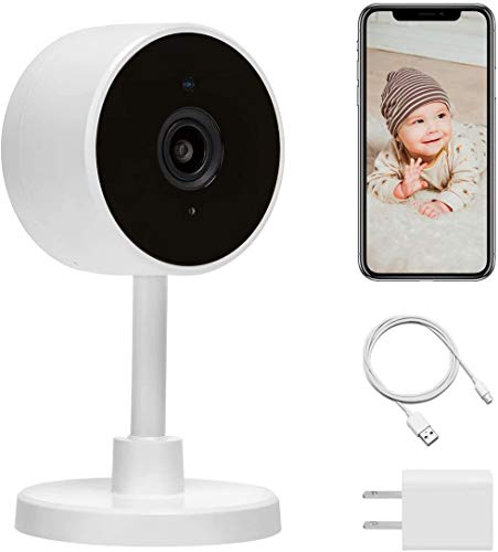 Home Security Camera, LARKKEY WiFi Surveillance 1080P, Smart Baby/Pet Monitor Compatible with Alexa and Google Home, Motion Detection & Tracker, Night Vision