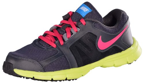 Nike Youth Dual Fusion ST 2 (GS) Running Shoes-Anthrct/Frberry/Atmc Grn-6.5