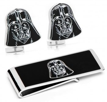 Darth Vader Star Wars Manschettenknöpfe und Schlüsselanhänger-Set