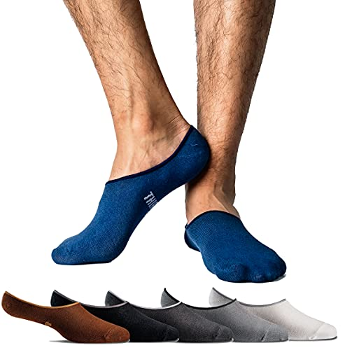 Thirty48 Men 3 Pack No-show Loafer Socks, Boat Shoe Liners with CoolPlus, Non-Slip Grip,Medium/Large (10 - 12),Navy Blue