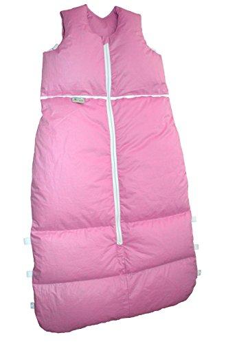 Premium Daunenschlafsack, längenverstellbar, Alterskl. ca 12-24 Monate, rose uni, 110cm