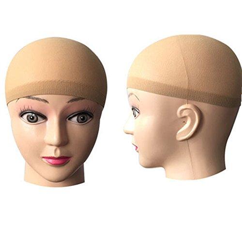 TRIXES Bas Nylon Beige pour Cheveux Tête Chauve pour Perruques