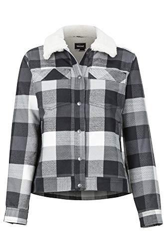 Marmot Wm's Ridgefield Sherpa LND LS T-Shirt Femme, Noir, XL