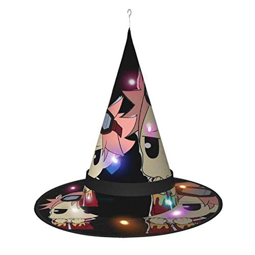 RobertBailey Fairy Tail ChibiAll Saints†Day Halloween Decorations Glowing Large Witch Hats, Outdoor String Lights Waterproof Lighted Hanging Witch Hats Black