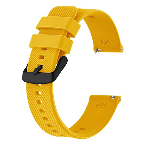 BISONSTRAP Watch Strap 20mm, Quick Release Silicone Watch Bands for...