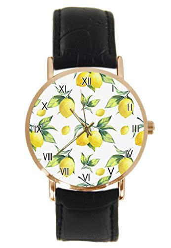 Reloj de Pulsera de Cuarzo analógico de Color Amarillo limón con Correa...