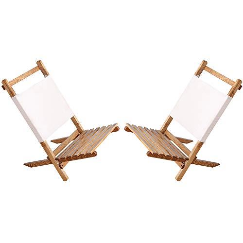 YANGMAN Liege Tragbarer Stuhl, Eichenlagerstuhl, Einfach zu Falten und zu tragen, Perfekt für Camping, Strand und Tailgating, Entspricht Allen Möbeln, Holzfarbe,2 Stühle