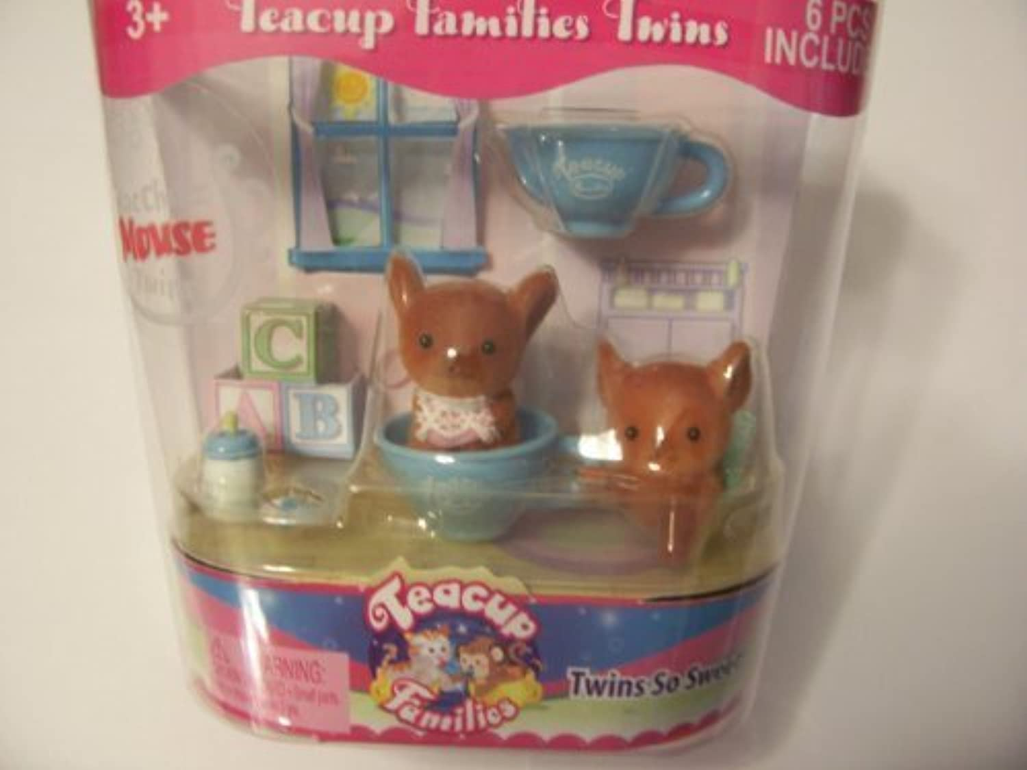 Teacup Families Twins  MacCheez Mouse Twins  by Toy Teck