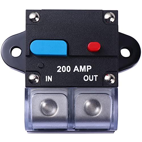 VICASKY Interruptor de Circuito Amp 200A Interruptor de Circuito Rearmable para Coche Fusible de Recuperación Automática Botón de Reinicio Manual Interruptor de Circuito Accesorios para