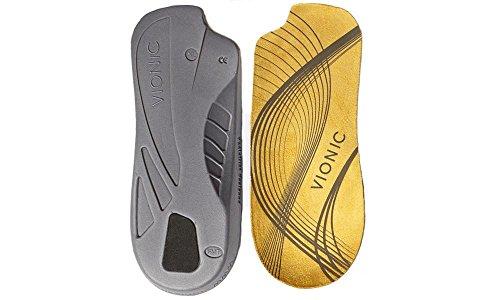 Vionic Orthotische Einlegesohlen, 3/4-Länge, mit seitlicher Aussparungen, platzsparend im Schuh Medium
