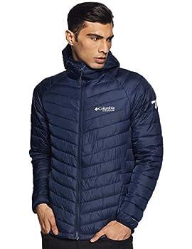 Columbia Men s Snow Country Hooded Insulated Titanium Omni Heat 3D Reflective Winter Jacket  Medium Collegiate Navy