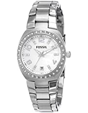 Fossil Women's Analog Quartz Watch with Stainless Steel Strap AM4141