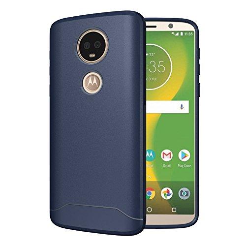 TUDIA [Arch S TPU Schutzhülle Motorola Moto E5 Plus Ultra Slim Hülle (Blau)