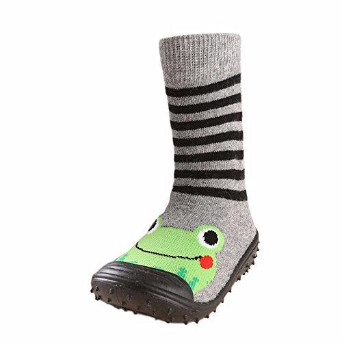Unisex Zapatos Bebé Niño Niña, LANSKIRT Impresión de Dibujos Animados Algodón Suela de Goma Antideslizante Zapatos Suaves Zapatilla de Deporte Calcetines de Piso