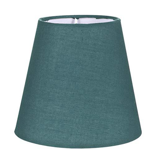 Uonlytech Kleiner Lampenschirm Stoff Fass Stoff Stoff Lampenschirm Tischlampenabdeckung Kronleuchter Lampenschirm Ersatz für zu Hause 1 Stück Grün