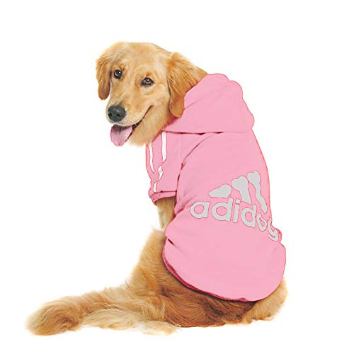 Rdc Pet Trudz Pet Large Dog Hoodies, Apparel, Fleece Adidog Hoodie Sweater, Cotton Jacket Sweat Shirt Coat from 3XL to 9XL for Large Dog Medium Dog (Pink, 8XL)