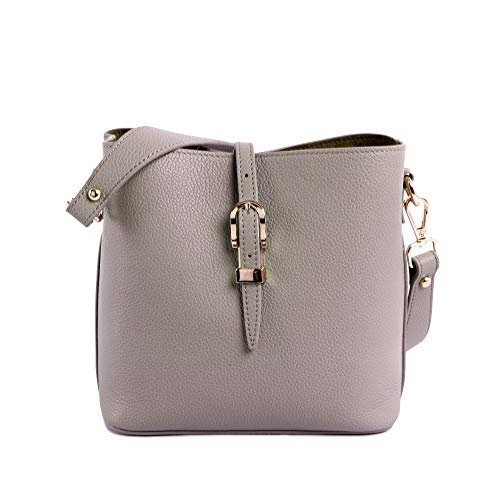 Montana West Small Bucket Bag Handbags for Women Designer Leather Purse Cute Ladies Crossbody Shoulder Bags Grey