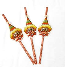 Clown Party Theme Accessories (Clown Straws)