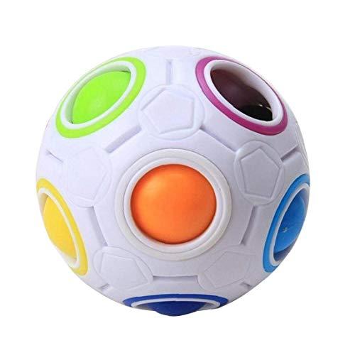 2017 Pop Rainbow Magic Cube En Plastique Boule Twist Pour Les Adolescents De Jouets Éducatifs Pour Enfants Adultes Balle Anti-stress, Malloom Jouet Drôle