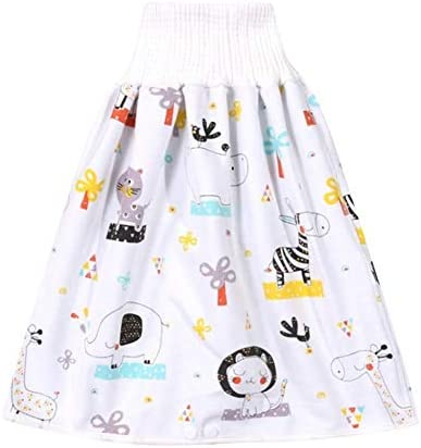 Soft Children s Diaper Skirt Shorts 2 in 1 Baby Shorts Anti Bed wetting Washable Cotton Bamboo product image