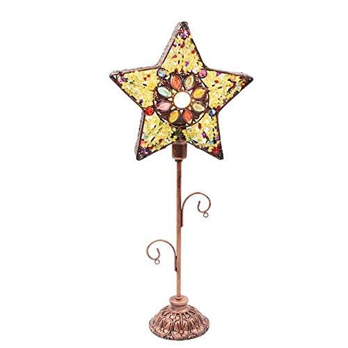 WALNUTA Estrellas Lámpara de Mesa de Noche Retro Luz Ajustable Cálido Simple Jardín Creativo Dormitorio Retro Arte Regalo Halal Restaurante Accesorio Lámpara de pie de plexiglás