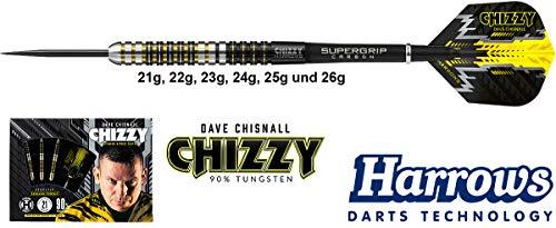 Harrows Darts Dave Chisnall Chizzy 90% Tungsten Steeldarts 24g