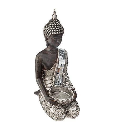 Atmosphera - Photophore Bouddha à Genoux H 23 cm