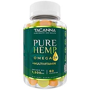 Hemp Gummies 1500Mg Natural Calm Multivitamin - Immune Boost with Organic Hemp Oil for Stress Relieve, Sleep Aid, Enhance Mood by Tacanna