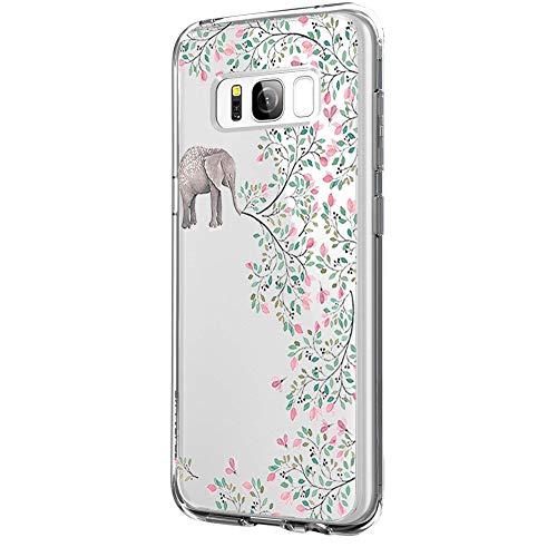 Riyeri Hülle Compatible with Samsung Galaxy S8 PlusHülle Klar Slim TPU Silikon Bumper Handyhülle für Samsung S8 Plus - Marmor & Blume (Samsung S8 Plus, 25)
