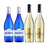 Vinos Blanco de Blancos y Maestrante - D.O. Tierra de Cadiz - Mezclanza Barbadillo (Pack de 4 botellas)